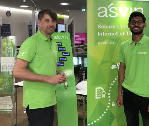asvin.io Engineer Rohit Bohara and Mirko Ross